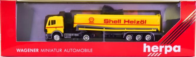 Herpa 826026 (1:87) – Mecedes-Benz Tank-Sattelzug -Shell Heizöl-