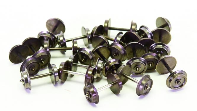H0 - 20x AC-Radsätze Ldkm 11,0 mm x 24,75 mm Achse (u.a. Roco)