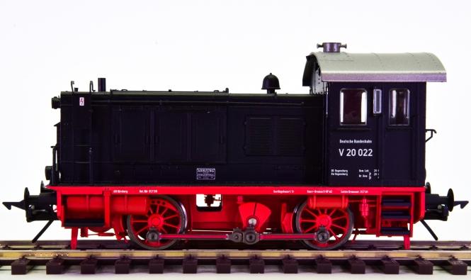 Lenz 40120-01 (Spur 0) – Rangier-Diesellok BR V20 der DB, digital + Sound + Telex