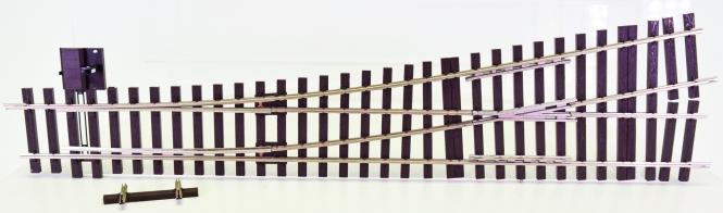 Lenz 45031 (Spur 0) – Handweiche links 11,25° Radius=1649,39 mm