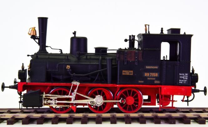 Spur 0 - Tenderdampflok T3 / BR 89 der DRG, Messing & digital (DCC)