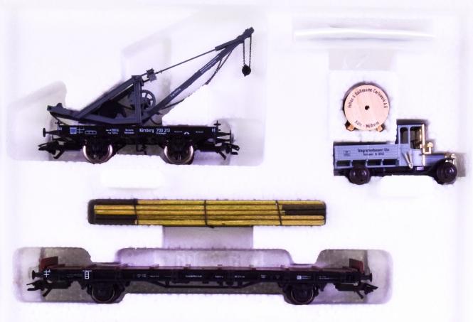 Märklin 45091 - 2-teiligesGüterwagen-Set -Telegrafie- der DRG