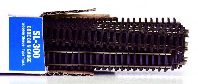 Peco SL-300 (N) – 25x Flexgleis mit Holzschwellen, Code 80