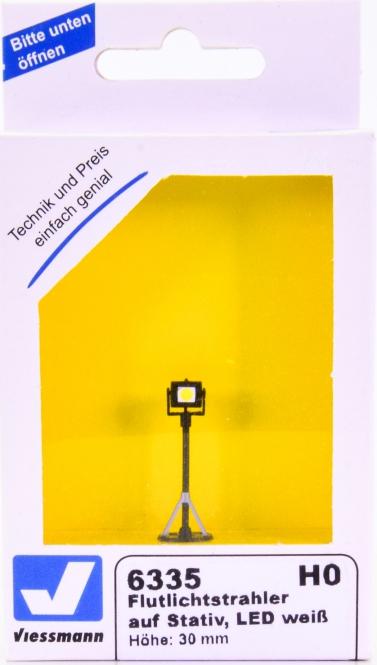 Viessmann 6335 – Flutlichtstrahler auf Stativ, mit LED weiß