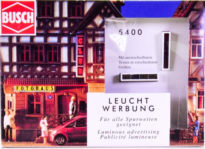 Busch 5400 (H0) - Leuchtreklame H0/TT/N