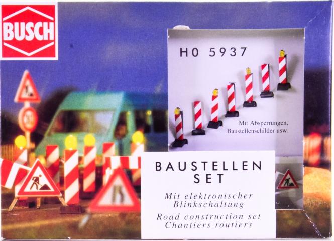 Busch 5937 (H0) – Baustellen-Set LED mit elektrischer Blinkschaltung