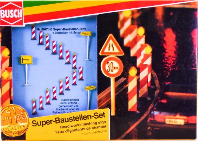 Busch 5917 (H0) – Super-Baustellen-Set LED mit elektrischer Blinkschaltung
