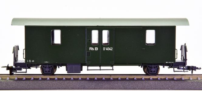 Bemo 3265 112 (H0m) – Gepäckwagen D der RhB