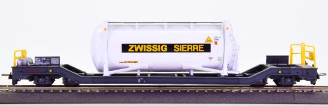 Bemo 2289 130 (H0m) – Containerwagen Sbk-v -Zwissig Sierre- der RhB