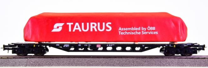 Roco 47762 – Flachwagen Sgjs der DB AG, beladen mit Frachtgut -Taurus-