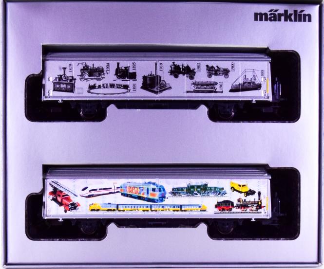 Märklin 4735.940 – Schiebewandwagen-Set -140 Jahre Märklin-