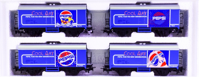 Märklin 84400 - Kühlwagen-Set -Der PEPSI-Cool-Art-Zug-