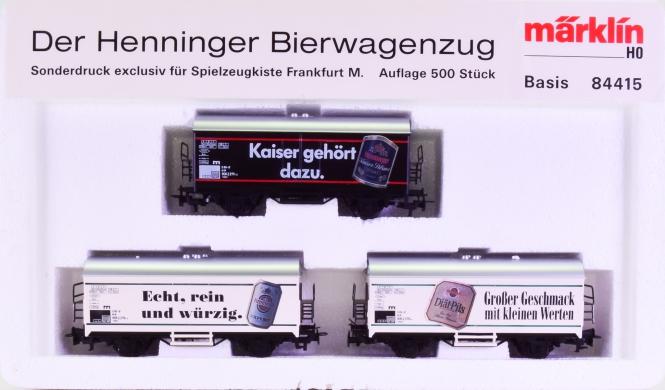 Märklin 84415 - Bierwagen-Set -Der Henninger Bierwagenzug-