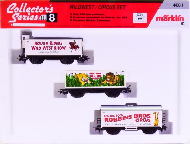 Märklin 4400H – 3-teiliges Güterwagen-Set -Wildwest / Circus Set-