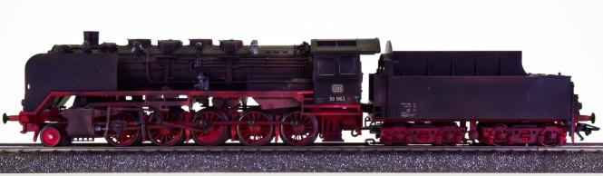 Märklin 37845 – Schlepptender-Dampflok BR 50 der DB, digital (MM) & patiniert