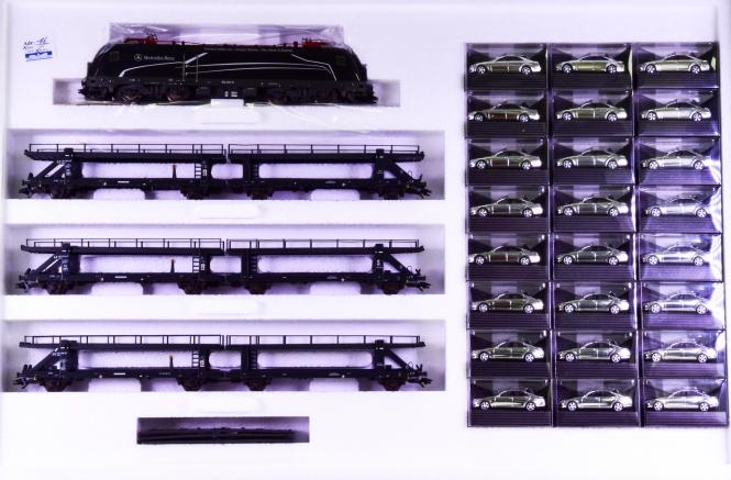 Märklin 26527 – Autotransportzug -Die neue S-Klasse- der DB, digital (MM)