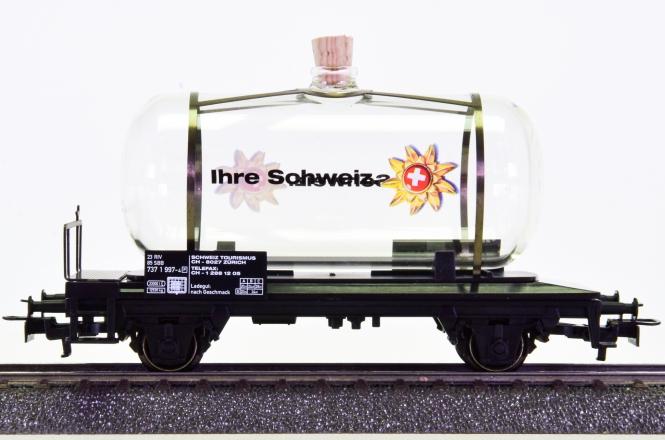 Märklin 44521 – Glas-Kesselwagen -Schweiz-
