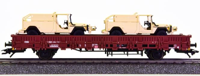Märklin 46960 - Niederbordwagen Kls 443 der DB AG ,mit 2x Serval