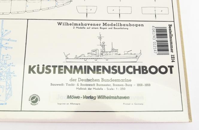WHV Modellbaubogen 1214 (1:250) - Küstenmienensuchboot (2 Modelle)