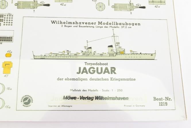 WHV Modellbaubogen 1219 (1:250) - Torpedoboot Jaguar