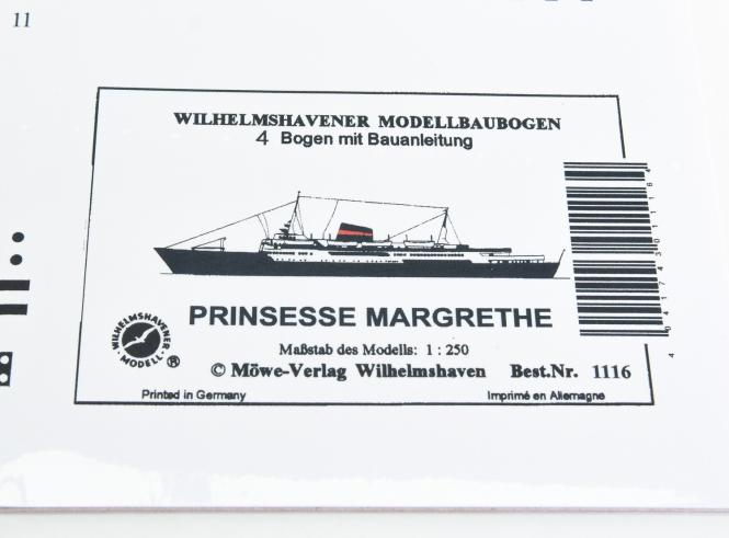 WHV Modellbaubogen 1116 (1:250) - Prinsesse Margrethe