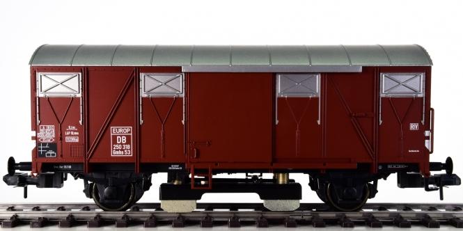 Märklin 58269 (Spur 1) - Gedeckter Güterwagen Gmhs 52 der DB, Schienenreinigungswagen