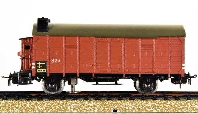 Märklin 320 S – gedeckter Güterwagen Glhs 25 der DRG mit Doppel-Rücklicht, Variante 3 von 1950-1951