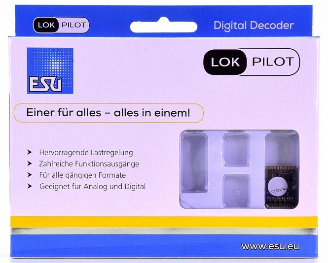 ESU 59619 - LokPilot 5 DCC/MM/SX/M4, 21MTC NEM660, Spurweite H0 & 0 -NEU-