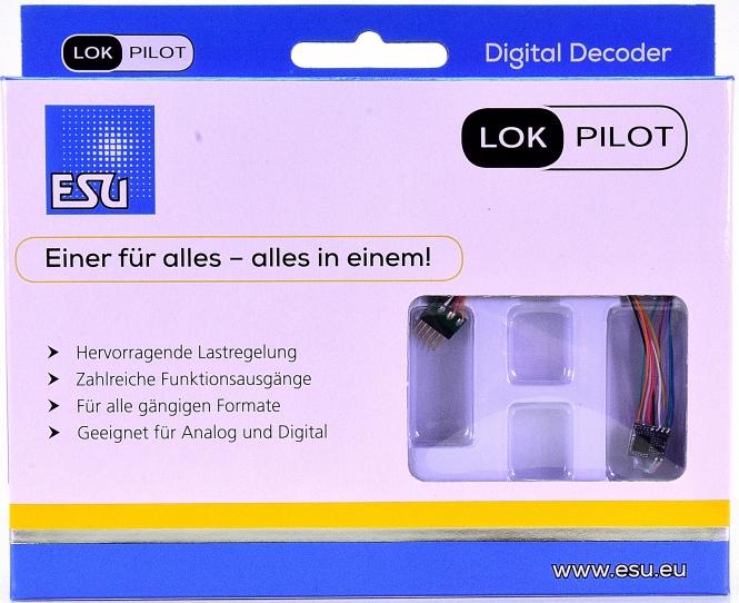 ESU 59816 – LokPilot 5 micro DCC/MM/SX, 6-pin NEM651, Spurweite N & TT -NEU-