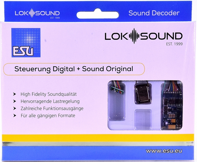 ESU 58410 – LokSound 5 DCC/MM/SX/M4 -Leerdecoder-, 8-pin NEM652 -NEU-