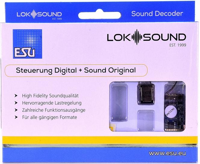ESU 58419 – LokSound 5 DCC/MM/SX/M4 -Leerdecoder-, 21MTC NEM660 -NEU-