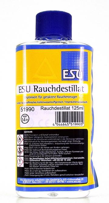 ESU 51990 - Dampf-Rauch Destillat, 125 ml Flasche -NEU-