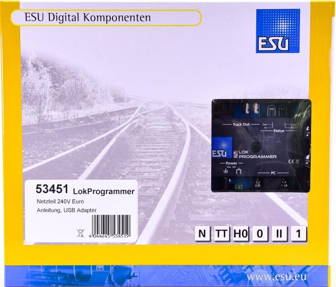 ESU 53451 - LokProgrammer & Steckernetzteil & USB Adapter - NEU-